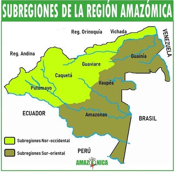 subregiones de la region amazonica