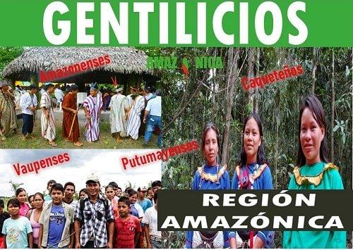 gentilicio de la region amazonica