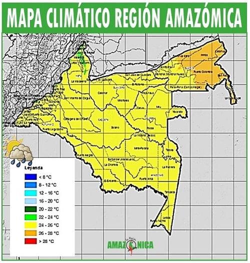 clima de la region amazonica de colombia