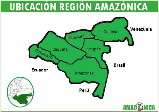 Ubicacion de la region Amazonica de Colombia